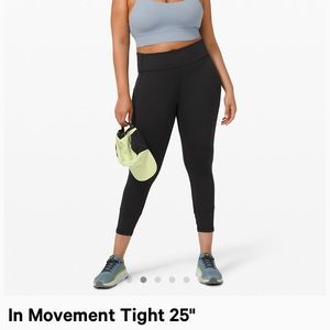 Black Lululemon In Movement Tights